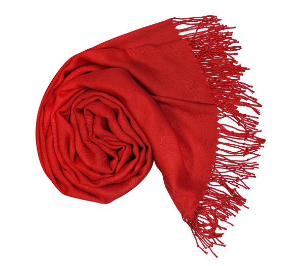 Ruby Solid Colour Shawl Pashmina Scarf Wrap Shawls