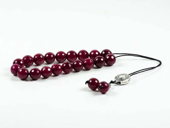 ruby worry beads